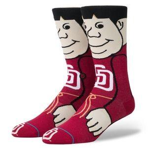 Stance MLB San Diego Padres The Friar Mascot Socks
